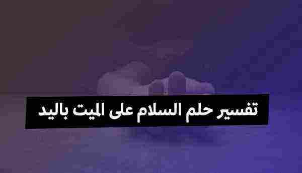 تفسير رؤية حلم السلام على الميت باليد للمفسرين ابن سيرين وابن شاهين زيادة