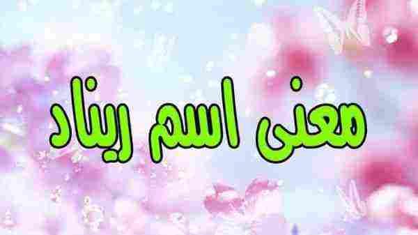 معنى اسم ريناد في القرآن زيادة