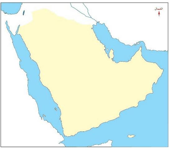 خريطة شبه الجزيرة العربية صماء زيادة