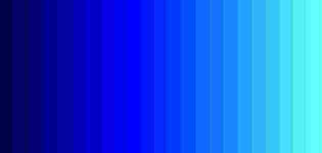 دمج الالوان للحصول على اللون الازرق وطرق المزج زيادة