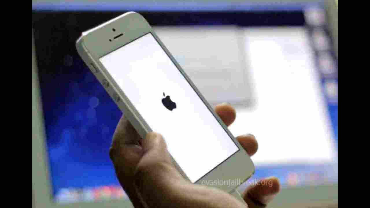 الايفون معلق على التفاحة تروح وتجي