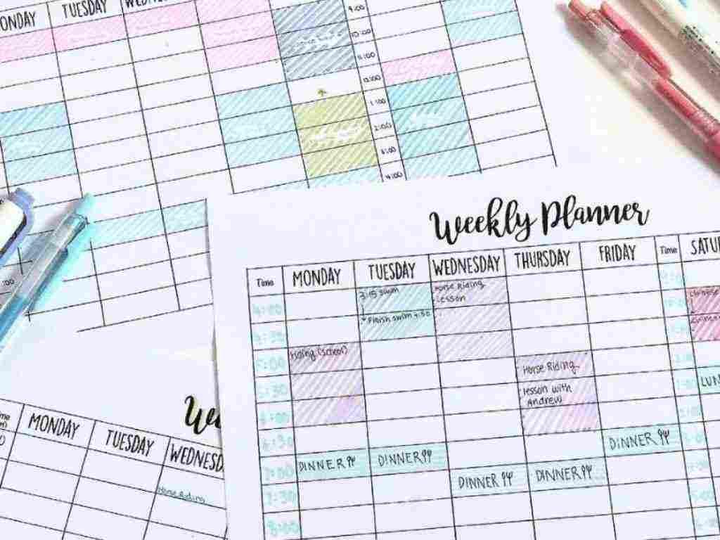 جدول للدراسة وتنظيم الوقت ونصائح لوضع جدول مثالي لتنظيم الوقت والدراسة زيادة