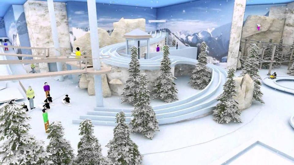 مدينة الثلج بالرياض