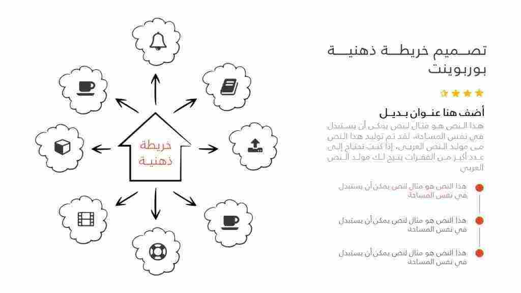 بسيطة خريطة ذهنية فارغة