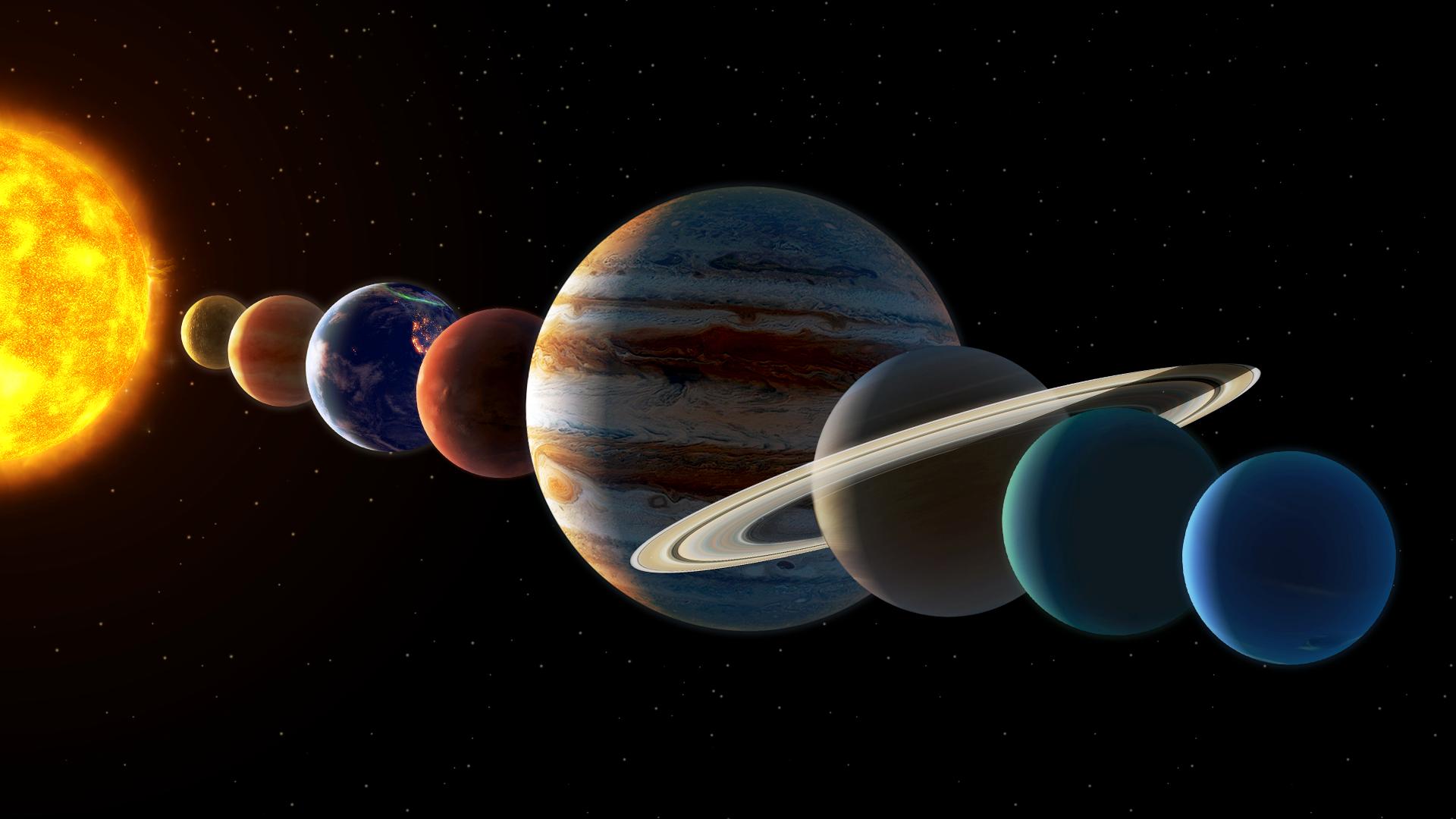 ترتيب الكواكب حسب بعدها عن الشمس من حيث الأقرب أو الأبعد زيادة