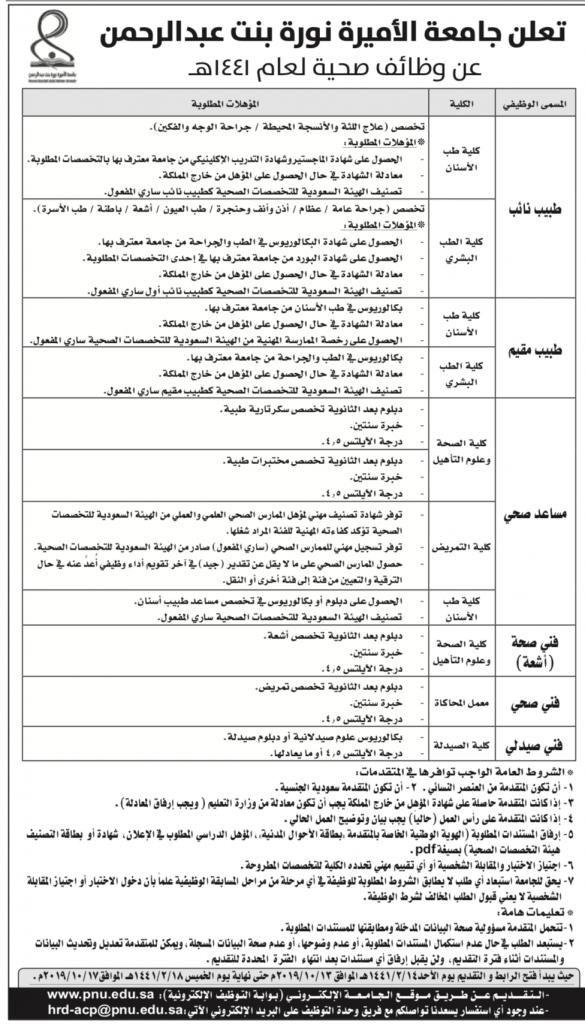 تخصصات جامعة الأميرة نورة وكيفية التقديم فيها والشروط اللازمة زيادة