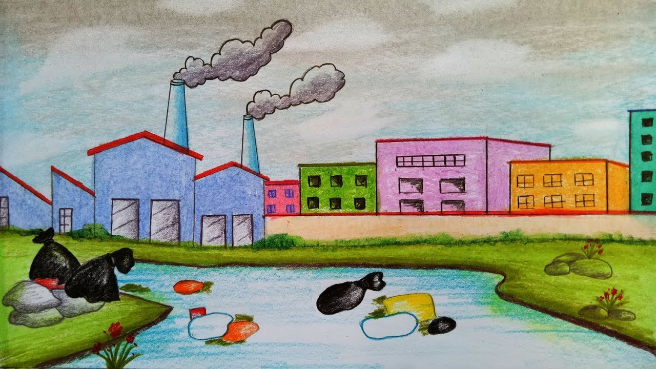 رسومات عن تلوث البيئة وأسبابه وآثاره على الحياة بشكل عام زيادة