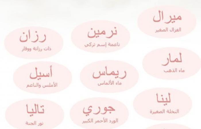 أسماء بنات خفيفة ودلع 2021 ومعانيها من القاموس العربي زيادة