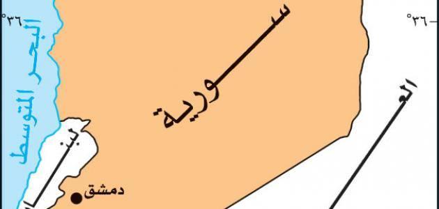 خريطة بلاد الشام الجغرافية وأهمية موقعها زيادة