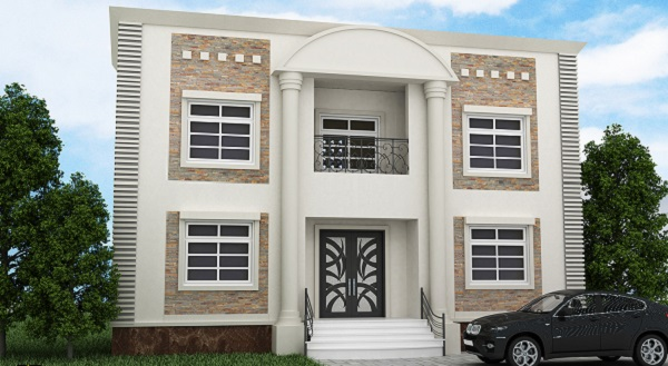 واجهات منازل حجر أبيض بالصور زيادة