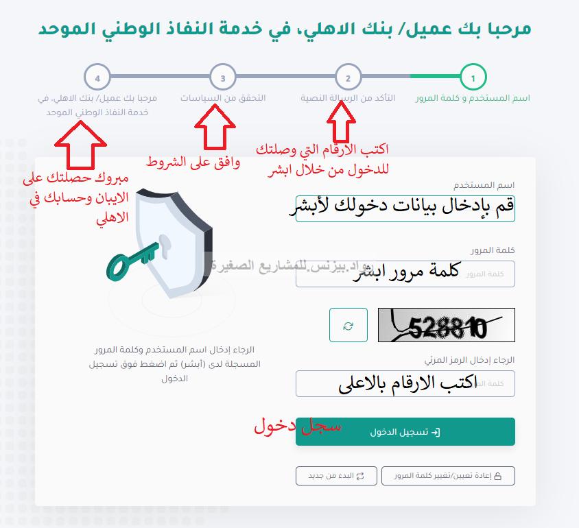النفاذ الوطني الموحد البنك الأهلي وطرق فتح حساب وأنواعه زيادة