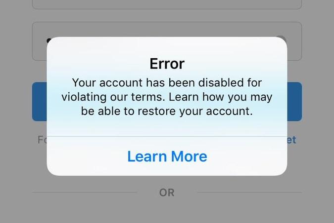 قم بإلغاء تنشيط حساب Instagram